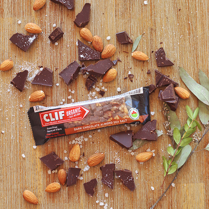 Clif Dark Chocolate Almond Sea Salt Organic Trail Mix Bar Review // JustineCelina.com