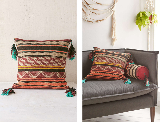 Colour Crush | Rust | Magical Thinking Arba Woven Pillow Urban Outfitters // JustineCelina.com