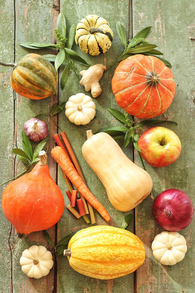 Autumn Harvest Soup with Roasted Squash Seeds // JustineCelina.com