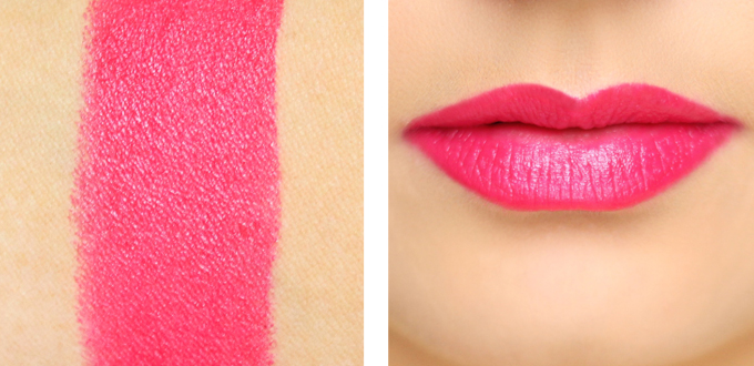 Maybelline Color Sensational Vivids Lipstick in Vivid Rose Photos, Review, Swatches // JustineCelina.com