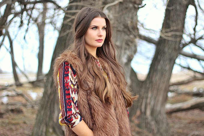 Winter Boho + How to Shop for Great Vintage // JustineCelina.com
