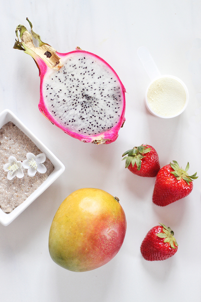 Dragonfruit Bubble Tea Smoothie // JustineCelina.com
