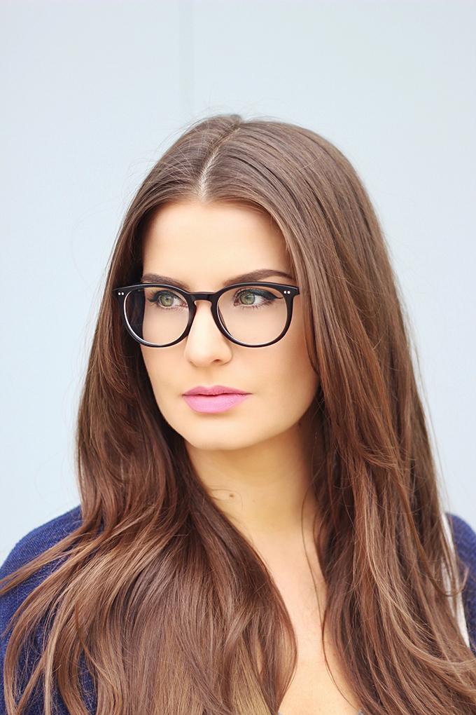 Grey Days   EyeBuyDirect Aura Black Prescription Eyeglasses Review // JustineCelina.com