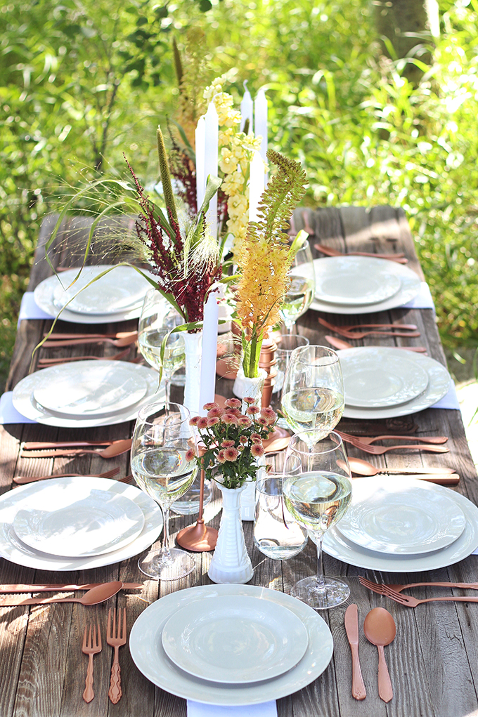 Al Fresco Summer Dining Inspiration // JustineCelina.co,