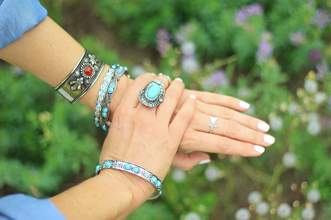 What to Wear to | The Calgary Stampede | Vintage Turquoise and Stone Silver Jewellery // JustineCelina.com