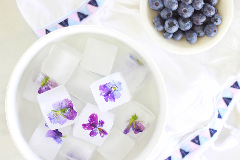 Pansy Ice Cubes // JustineCelina.com