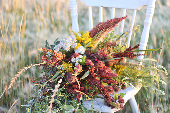 Foraged Prairie Wildflower Bouquet // JustineCelina.com