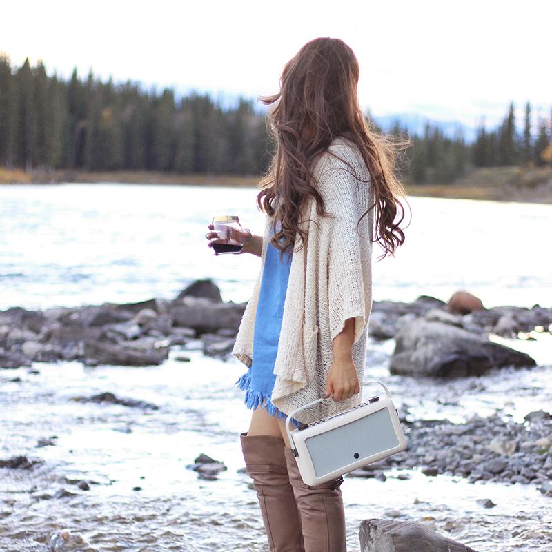 A Mini Mountain Getaway | VQ Hepburn Mk II Radio in Cream // JustineCelina.com