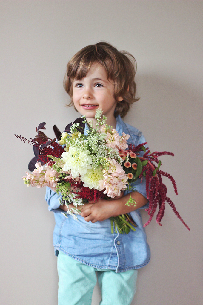 An Introduction to Autumn Flowers | Autumn Bouquet // JustineCelina.com x Rebecca Dawn Design