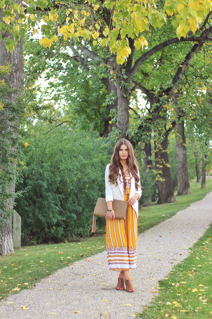 How to Style It | Jumpsuits & Transitional Summer to Autumn Dressing | Aritzia Chevalier Blazer // JustineCelina.com