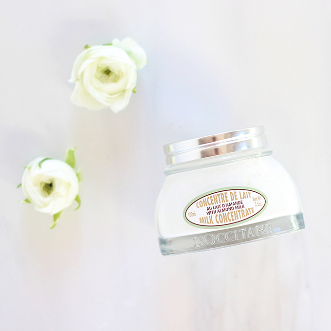L'Occitane Almond Smoothing and Beautifying Milk Concentrate Photos, Review | December 2016 Beauty Favourites // JustineCelina.com