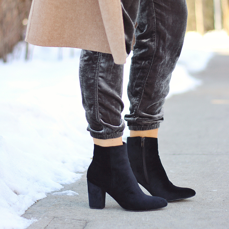 Winter 2017 Shoe Guide | Extras | Velvet Booties // JustineCelina.com