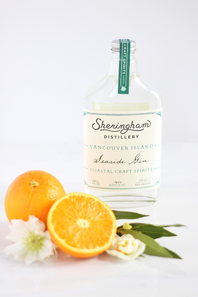 Sheringham Distillery Seaside Gin | Vancouver Island | Coastal Orange Blossom Gin Cocktail // JustineCelina.com
