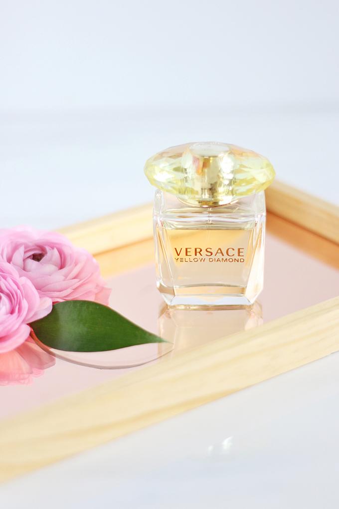 Versace Yellow Diamond Photos, Review // JustineCelina.com
