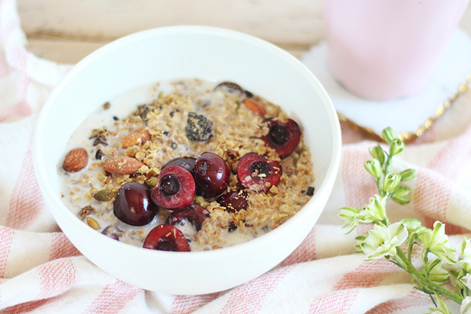 Protein Packed Cherry Almond Granola // JustineCelina.com