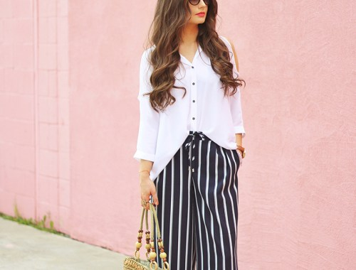Spring 2017 Trend Guide | Casual Chic | Palazzo Pants // JustineCelina.com
