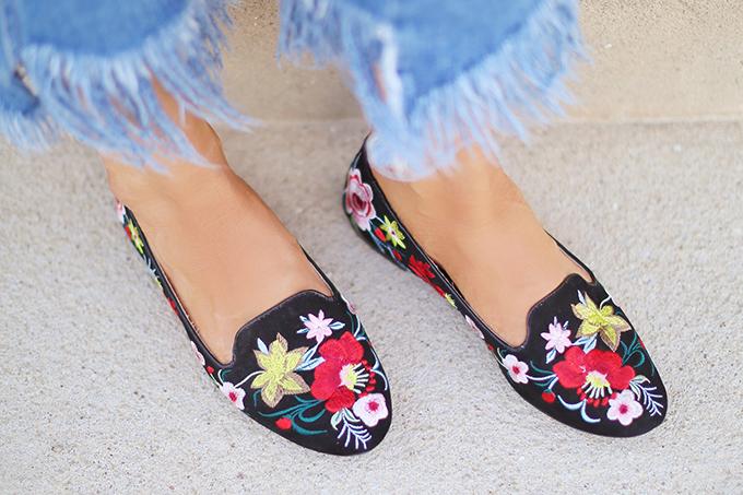 SUMMER 2017 MEGA SHOE GUIDE | 30 PAIRS! | Topshop Saffron Embroidered Slippers // JustineCelina.com