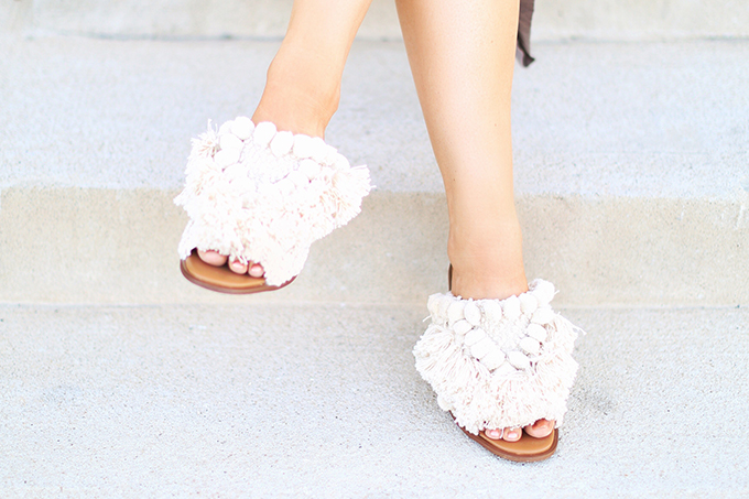 SUMMER 2017 MEGA SHOE GUIDE | 30 PAIRS! | Zara HIGH HEEL MULES WITH POMPOMS // JustineCelina.com