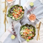 #Vegan Fiesta Buffalo Tofu Bowls with Tahini Lime Crema | #sponsored by Inspired Greens // JustineCelina.com