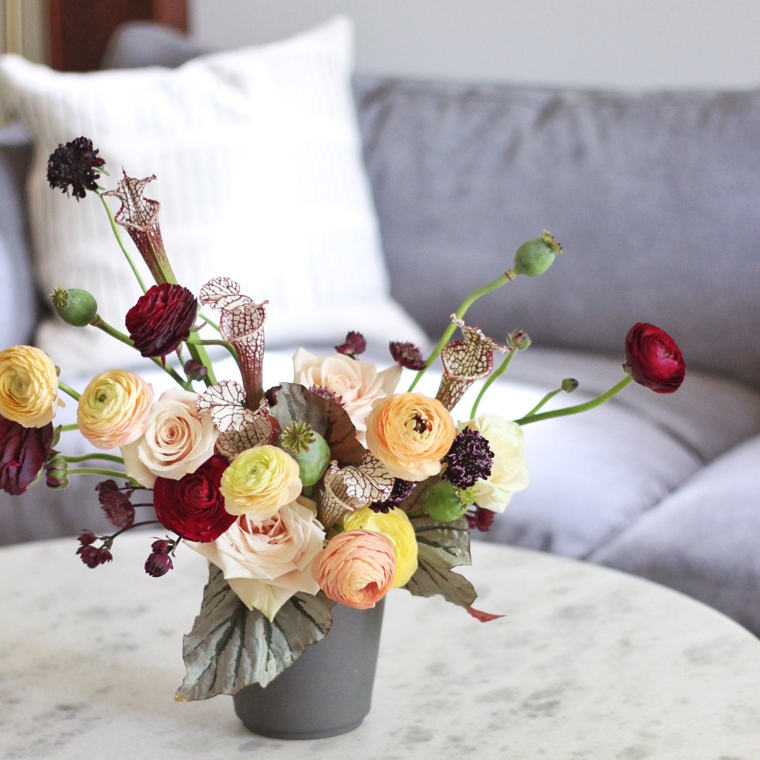 A Guide to Bringing Autumn Flowers Into Your Home // JustineCelina.com + Rebecca Dawn Design