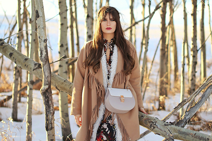 How to Style | Midi Dresses for Winter 2018 | Best Chloe Drew Bag Dupes | Calgary, Alberta Fashion Blogger // JustineCelina.com