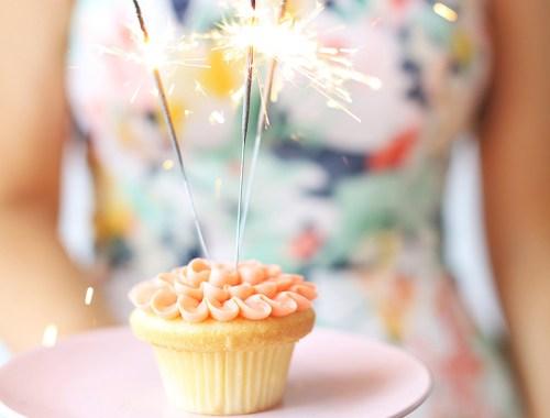 March 2018 Soundtrack | Blush Vanilla Cupcake with 3 Sparklers | Calgary Lifestyle Blogger // JustineCelina.com