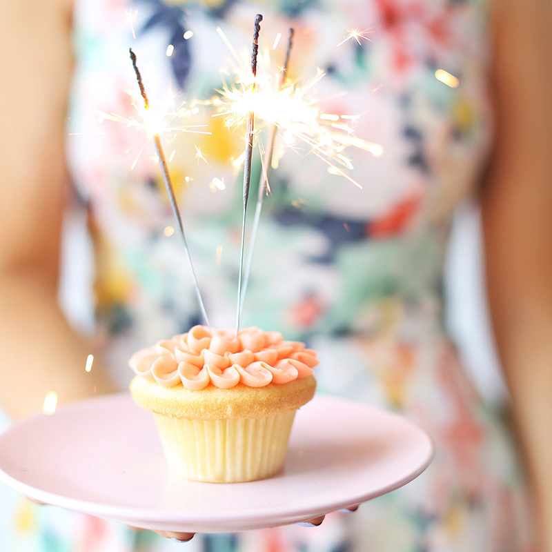 March 2018 Soundtrack | Blush Vanilla Cupcake with 3 Sparklers | Calgary Lifestyle Blogger // JustineCelina.com