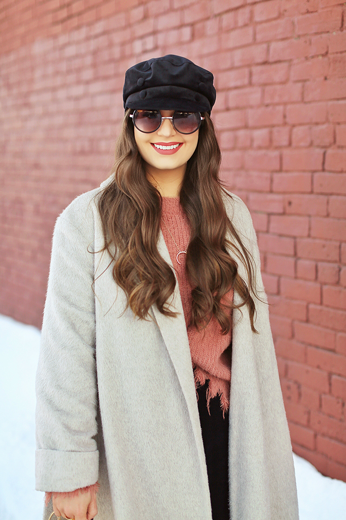 Winter 2018 Trend Guide | Velvet Underground | Key Winter to Spring Transitional 2018 Trends | Baker Boy Hats | Calgary, Alberta, Canada Fashion Blogger // JustineCelina.com