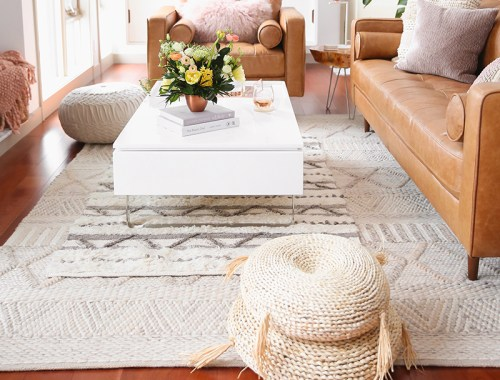 Our Living Room Furniture + $250 Structube #Giveaway | A Bohemian, Mid Century Modern Apartment in Calgary, Alberta, Canada | Justine Celina Maguire Living Room // JustineCelina.com