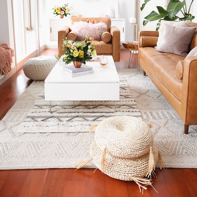 Our Living Room Furniture + $250 Structube #Giveaway   A Bohemian, Mid Century Modern Apartment in Calgary, Alberta, Canada   Justine Celina Maguire Living Room // JustineCelina.com