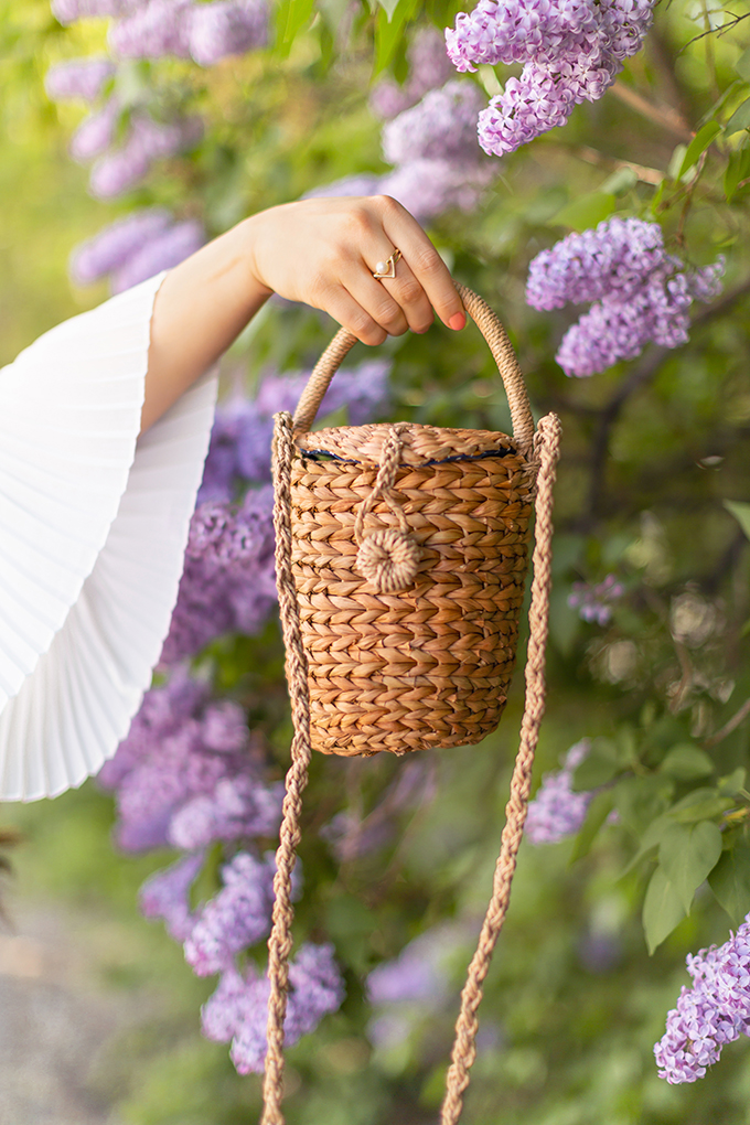 Spring 2018 Trend Guide | Lavender Love | Trend: Straw, Rattan, Jute and Woven Bags | Calgary, Alberta Fashion Blogger // JustineCelina.com