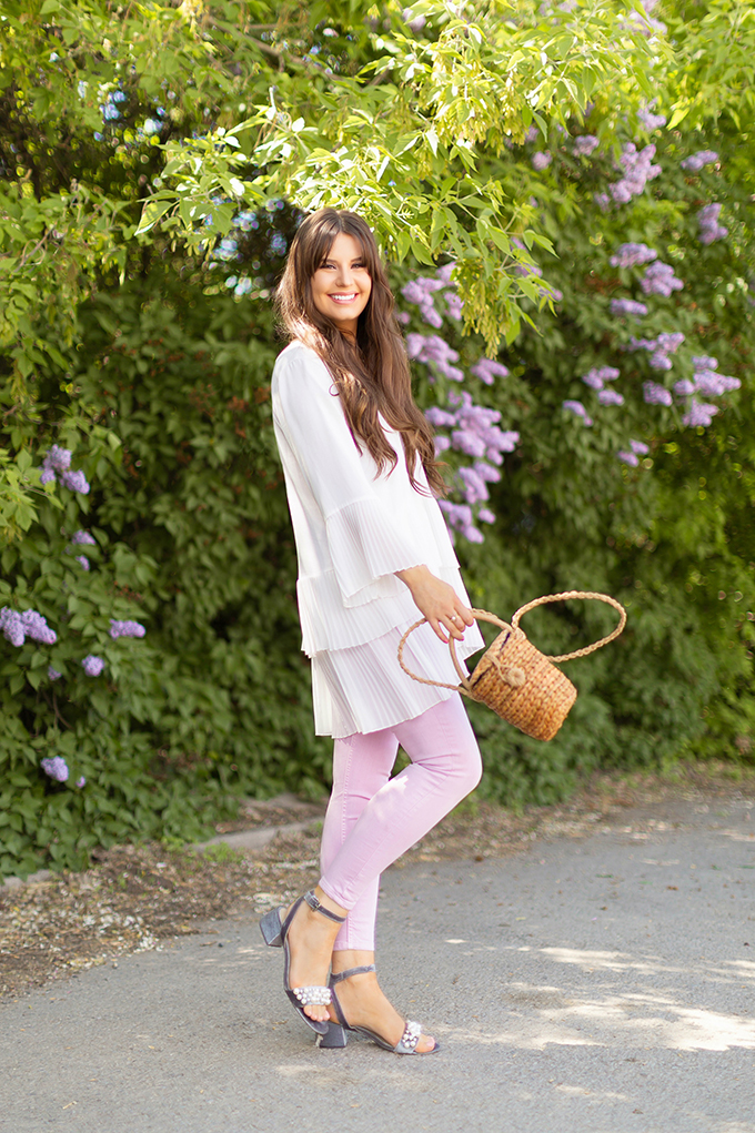 Spring 2018 Trend Guide | Lavender Love | How to Style Lilac and Lavender Denim | Calgary, Alberta Fashion Blogger // JustineCelina.com