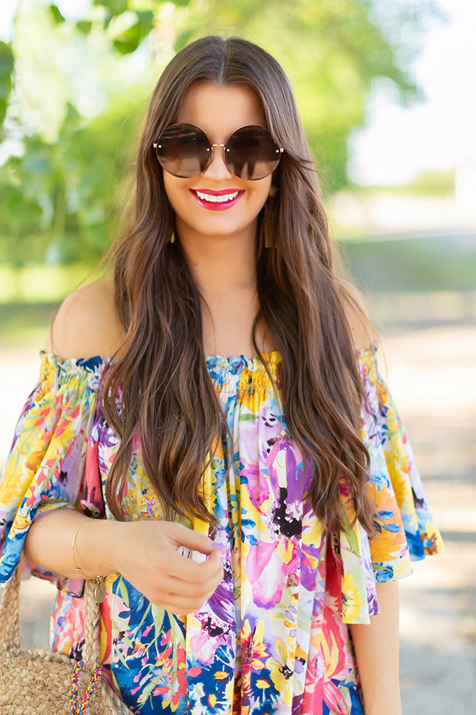 Summer 2018 Trend Guide | Flower Power | Summer 2018 Trends | How to Style Flowy Floral Dresses for Summer | Clarins Water Lip Stain in Rose Water + Red Water // JustineCelina.com