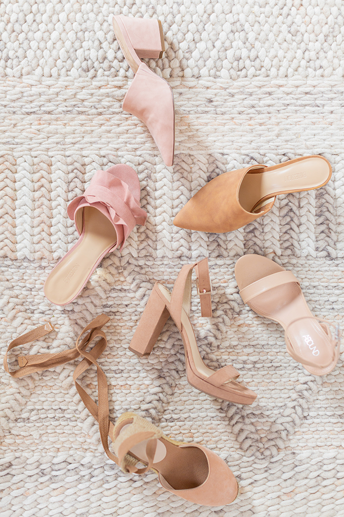 Transitional Shoe Guide | Summer to Autumn 2018 // The Best Shoes to Transition from Summer into Fall | Top Shoe Trends 2018 | Blush & Nude Palette // JustineCelina.com