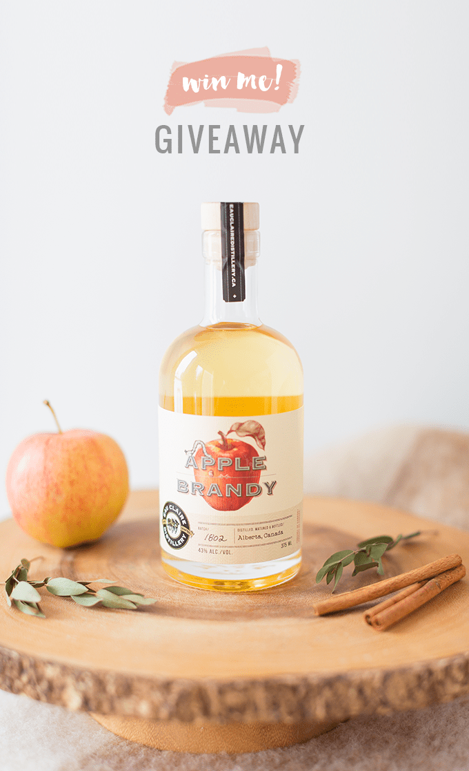 Eau Claire Distillery's Limited Edition Apple Brandy GIVEAWAY! | Apple Brady Sangria Recipe // JustineCelina.com