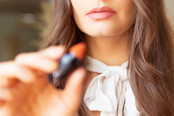 My Top 5 Everyday Lip Colours | JustineCelina's most worn lipsticks | JustineCelina's favourite lipsticks | The best My Lips But Better Lipsticks | The Best Warm Nude Lipsticks | The Best Luxury Nude Lipsticks | The best luxury lipstick formulas | Beauty Blogger's Favourite Lipsticks | Lancôme Matte Shaker High Pigment Liquid Lipstick in Nudevolution  | Calgary Beauty & Lifestyle Blogger // JustineCelina.com