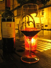 Tasting local products (wine is food, right?): gorgeous Sangiovese