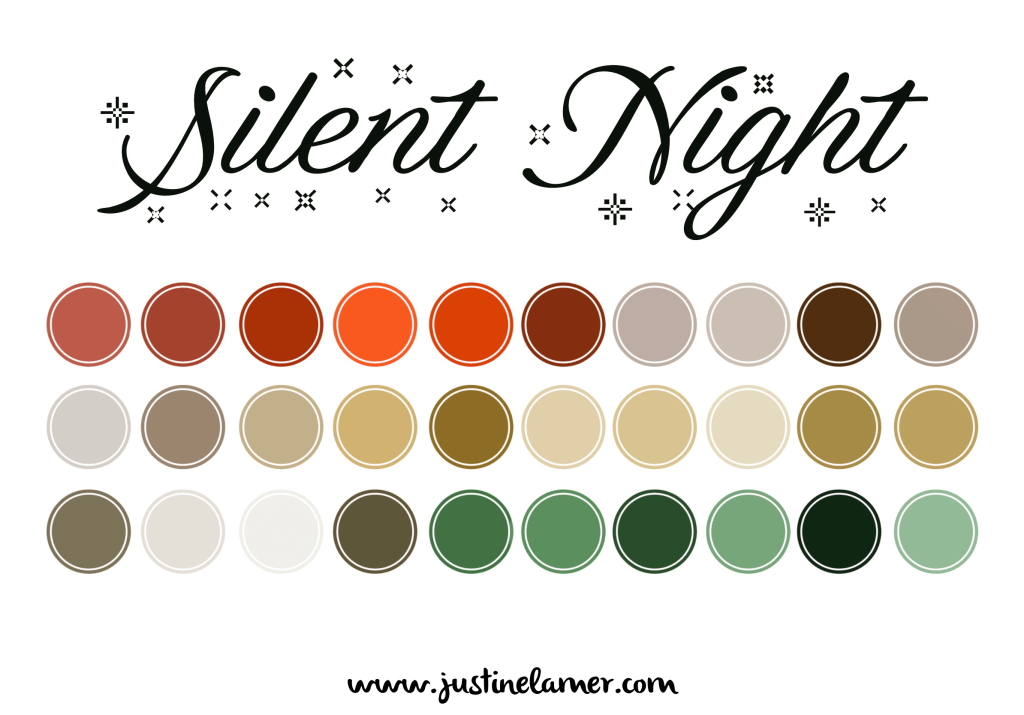 5 Christmas color palettes for content creation