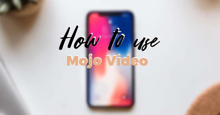 How to use mojo video