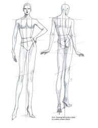 template body templates drawing sketch croquis figure sketches illustration pdf female easy drawings costume moda front clothing draw series tutorial