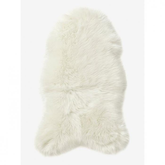 tapis fausse fourrure blanc justine mb