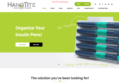 The HangTite Insulin Pen Holder