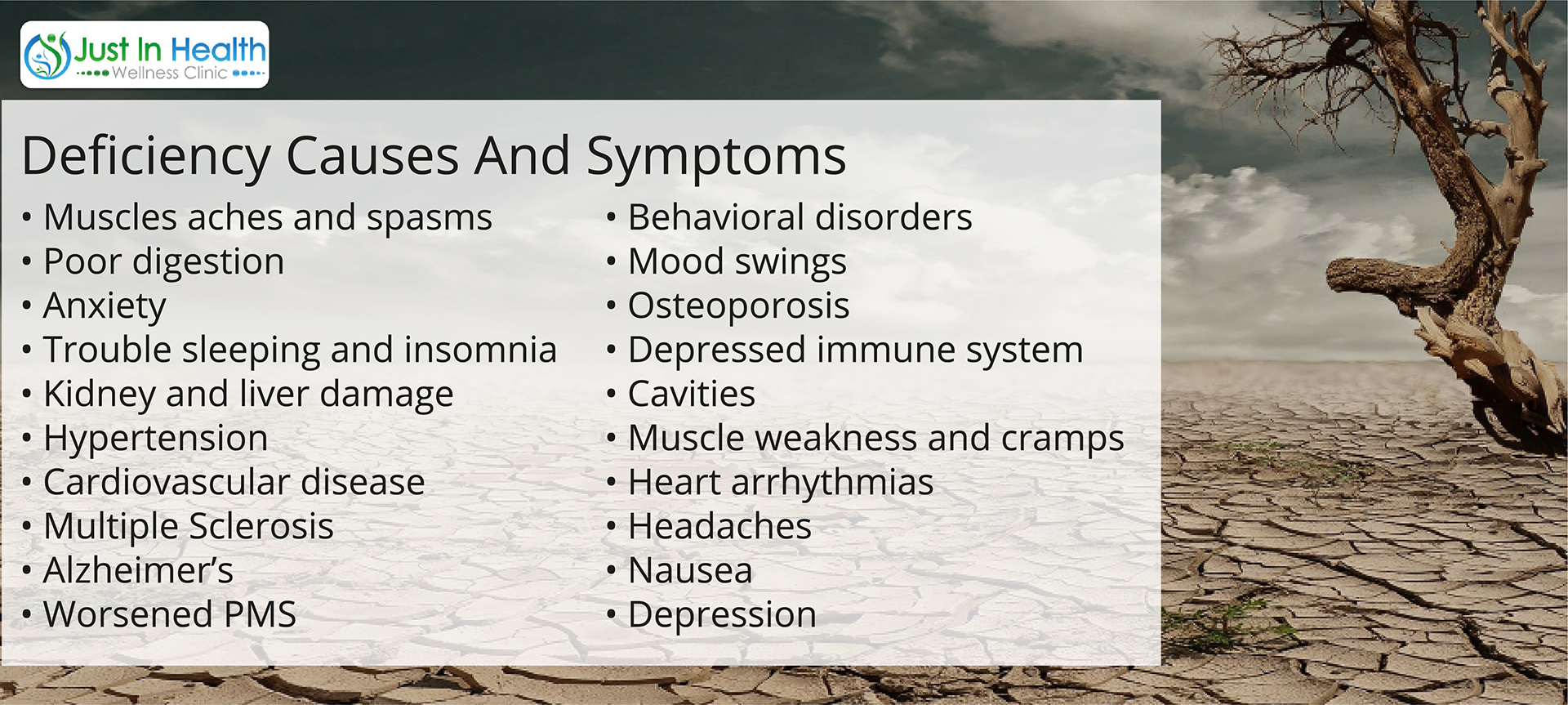 DEFICIENCY CAUSES AND SYMPTOMS
