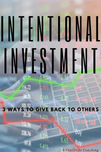 "Stock and Computer overlay with text ""Intentional Investment"""