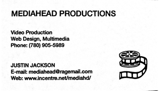 Justin Jackson's first business: Mediahead Productions