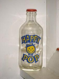 Happy Pop soda bottle Edmonton, Alberta, 1983