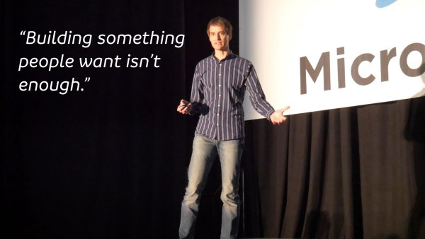 Rob Walling speaking at MicroConf 2017