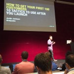 Justin Jackson speaking at MicroConf Europe about marketing and increasing product sales