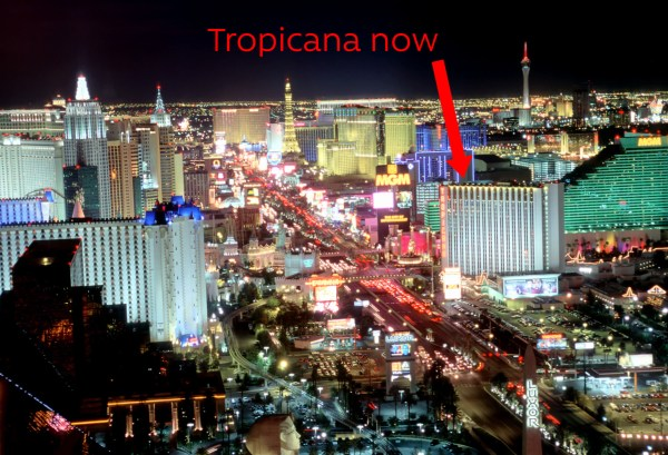 Tropicana Hotel Las Vegas on the strip
