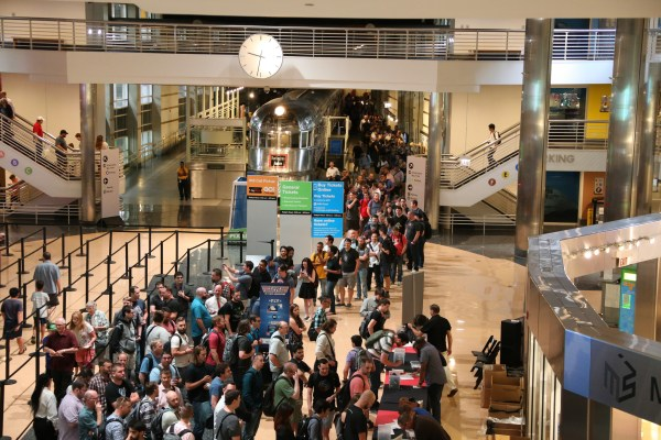 The lineup to Laracon (the Laravel conference) was insane